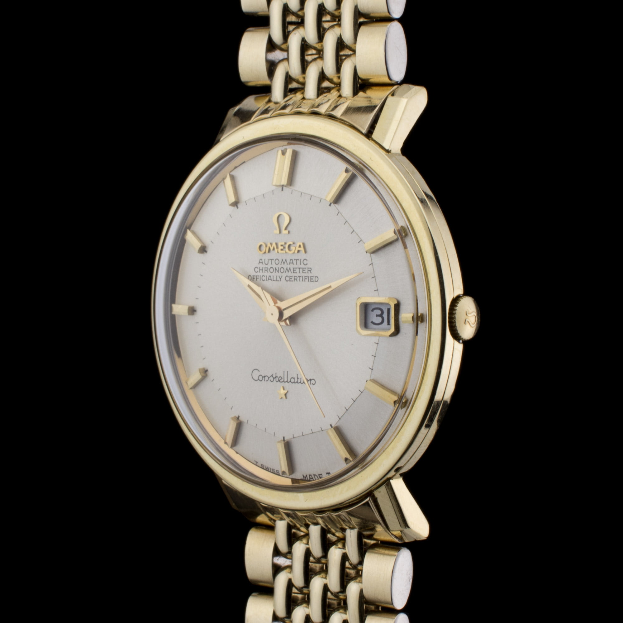 Omega constellation 39 pie pan 39 amsterdam vintage watches for Omega watch constellation