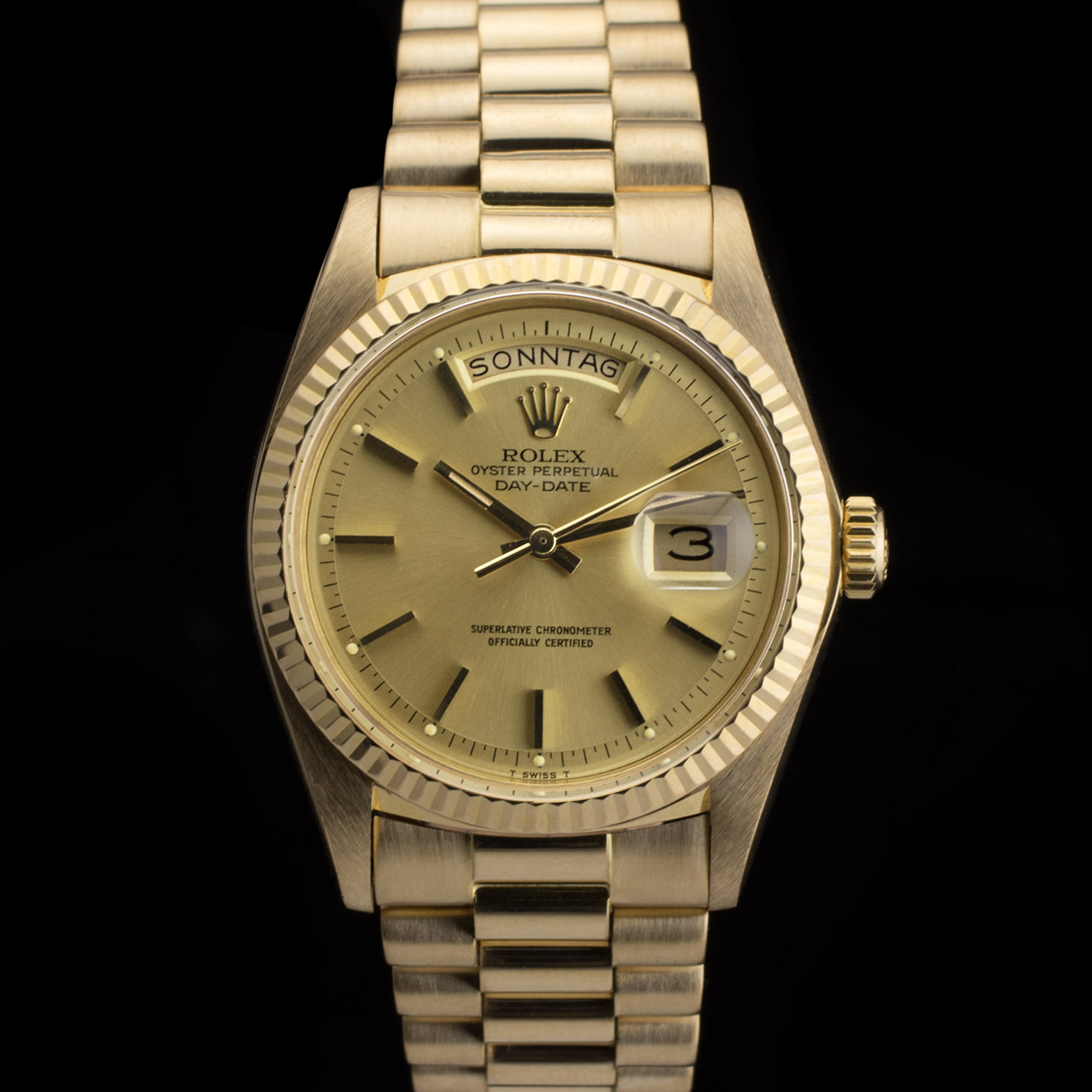 Rolex Oyster Perpetual Day Date Gold And Silver