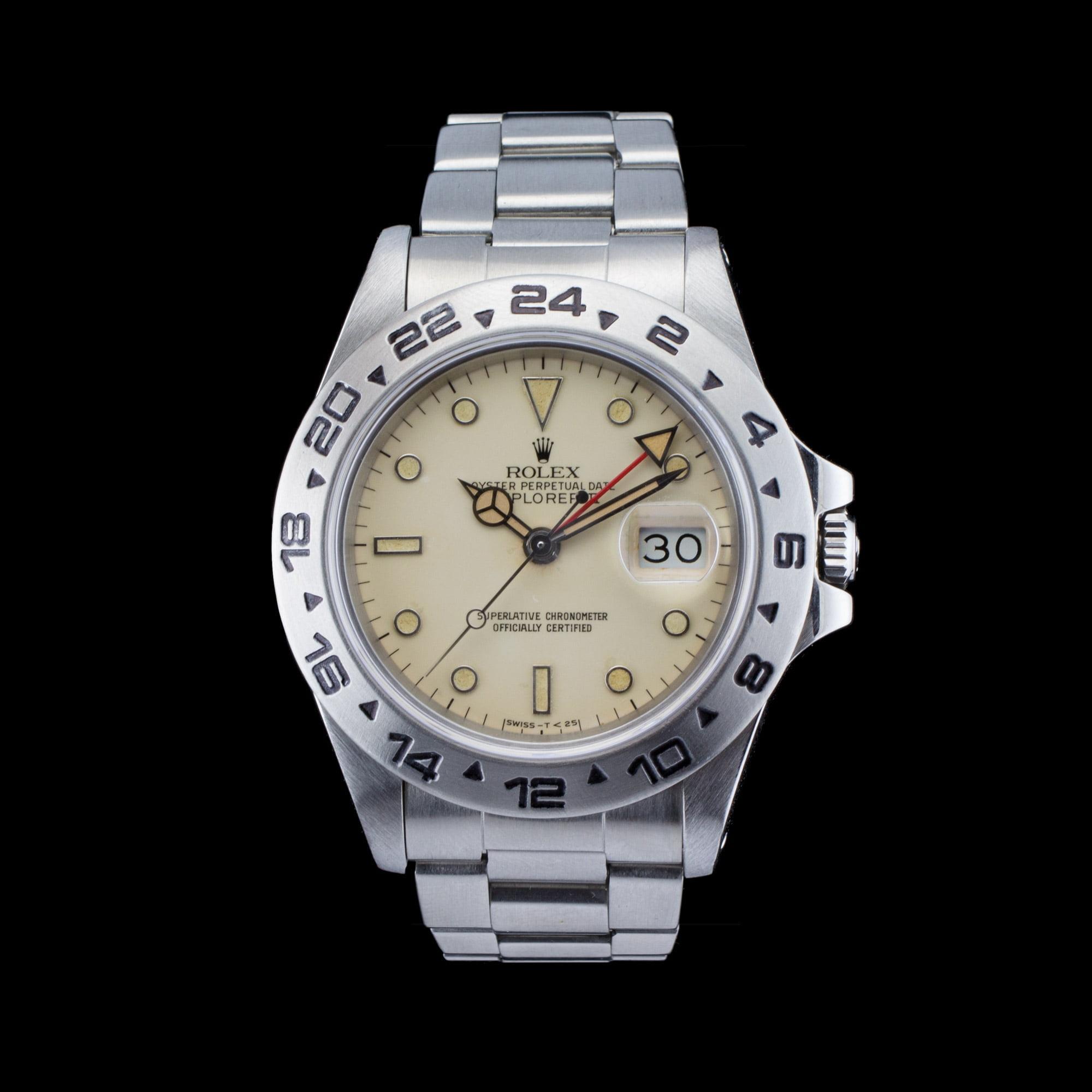 Rolex explorer ii 39 cream rail dial 39 2 amsterdam vintage watches for Rolex explorer