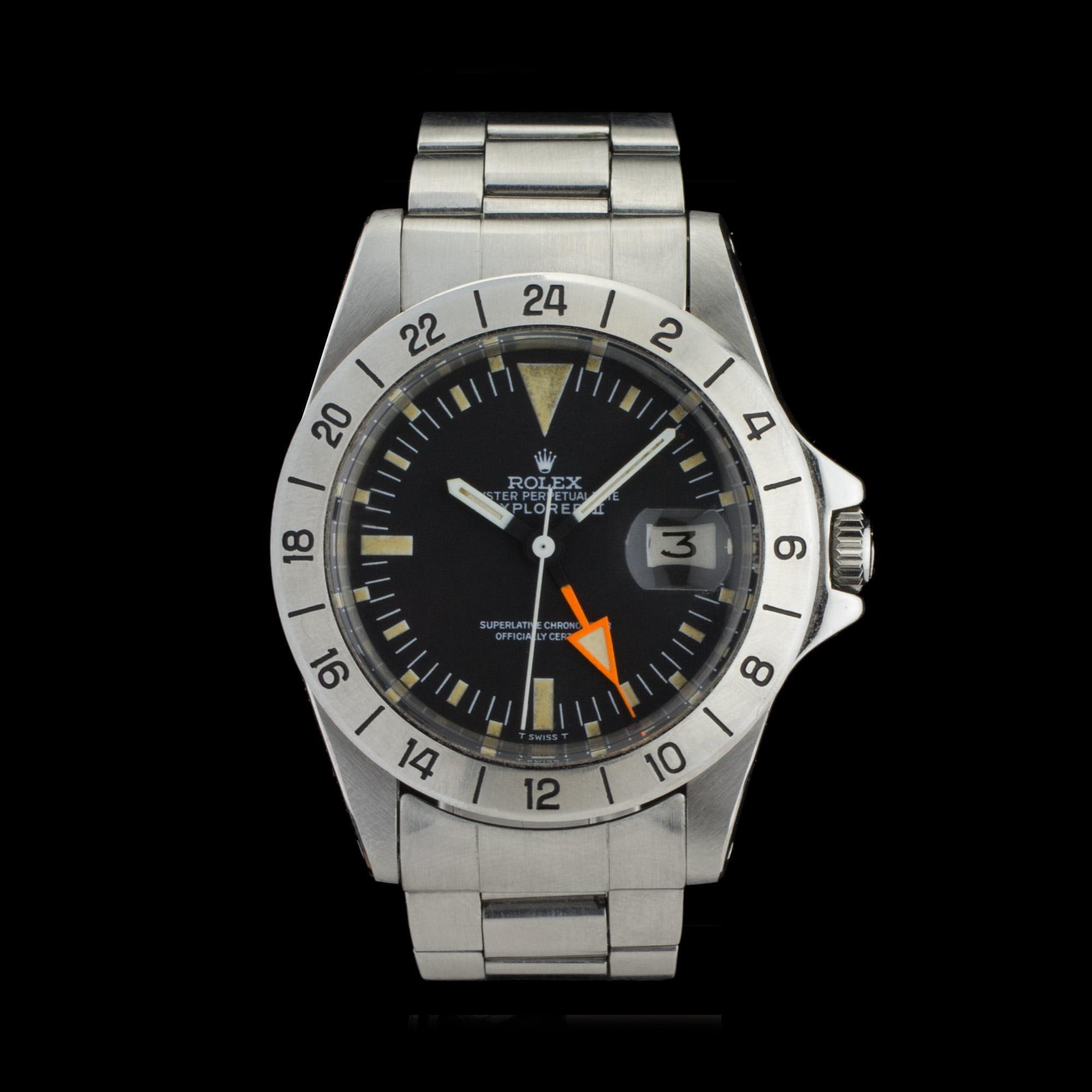 Rolex explorer ii 1655 freccione straight hand amsterdam vintage watches for Rolex explorer