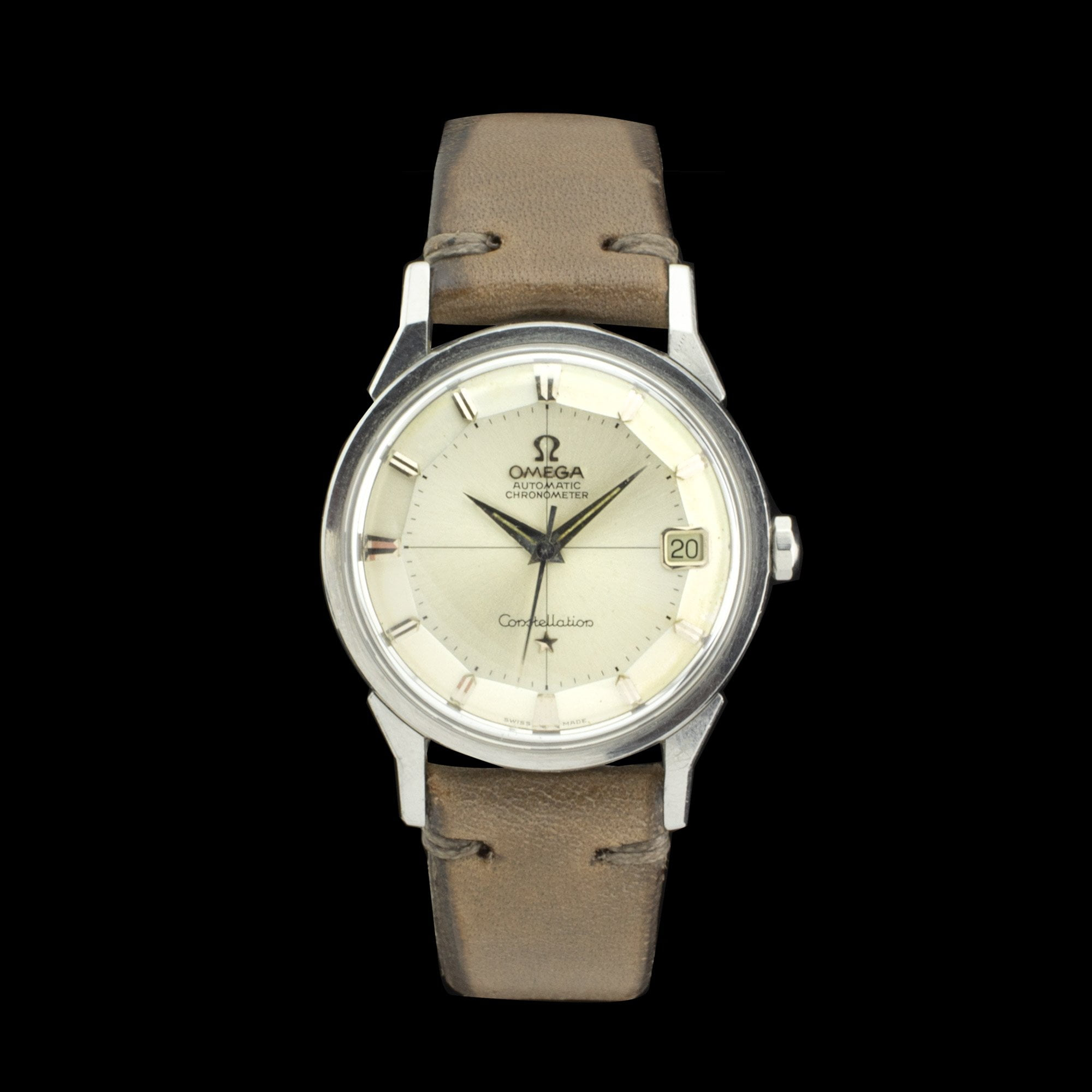 Omega constellation pie pan amsterdam vintage watches for Omega watch constellation