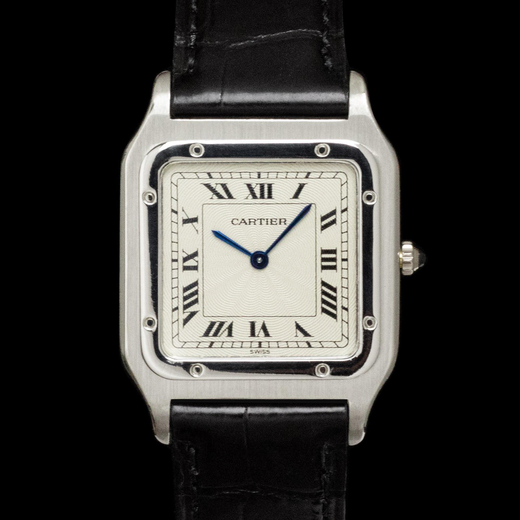 Cartier Santos Dumont 1575 'Platinum' - AMSTERDAM VINTAGE WATCHES