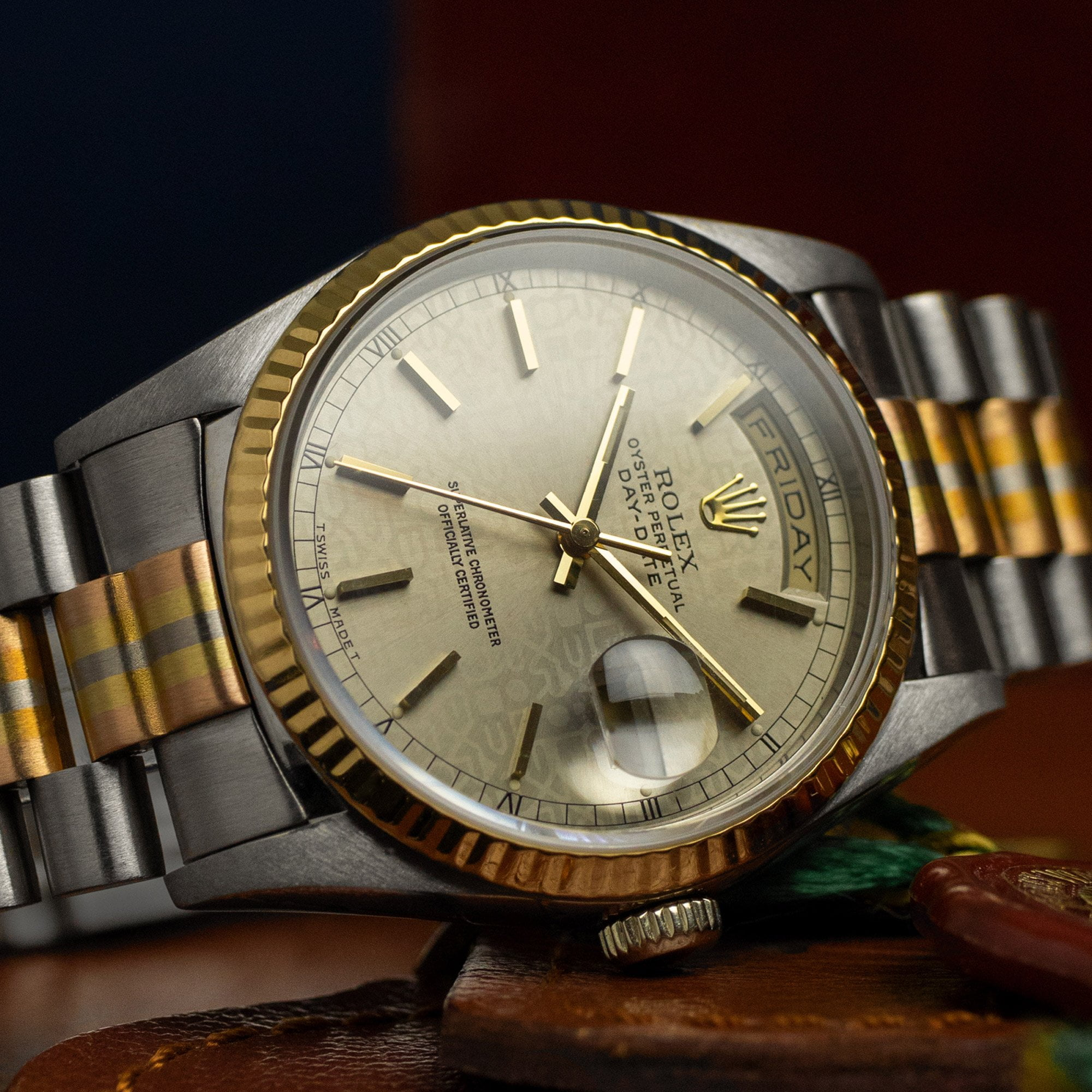 Rolex Day-Date 18239 'Tridor' Full Set - AMSTERDAM VINTAGE WATCHES