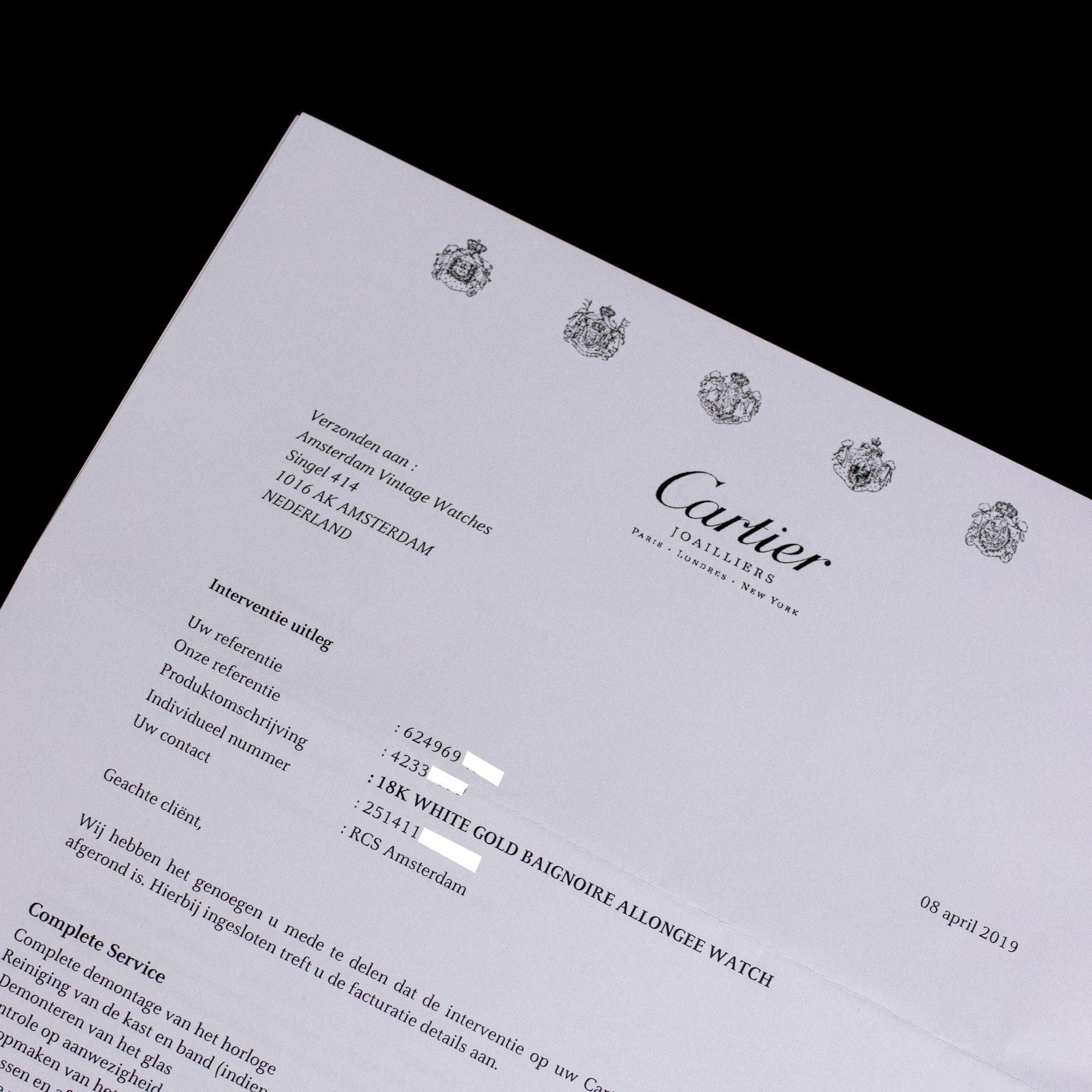 Cartier Baignoire Allongée 2514